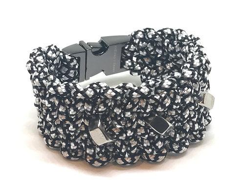 Black/White Diamond Cuff