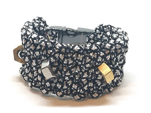 Black/White Diamond gold Cuff
