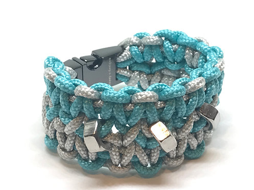 Turquoise/Silver Grey Cuff