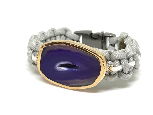 Grey Striped Purple Agate
