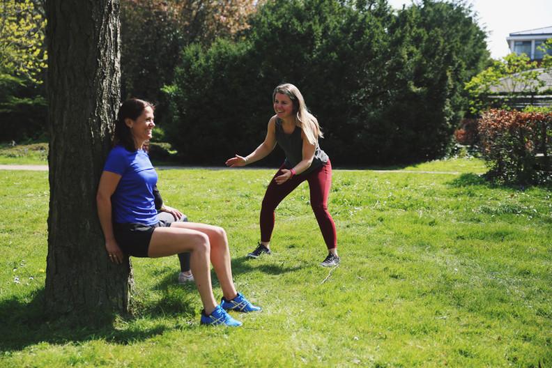Trainen in het park