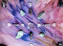 Crystal Grid Violet Flame of Transmutation with Quartz, Fuchisite, Auralite 23, Super 7, Purple Flourite
