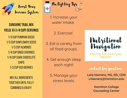 Nutritional Navigation - Eating for Immu