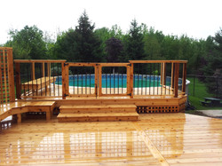 Above Ground Pool Cedar Deck
