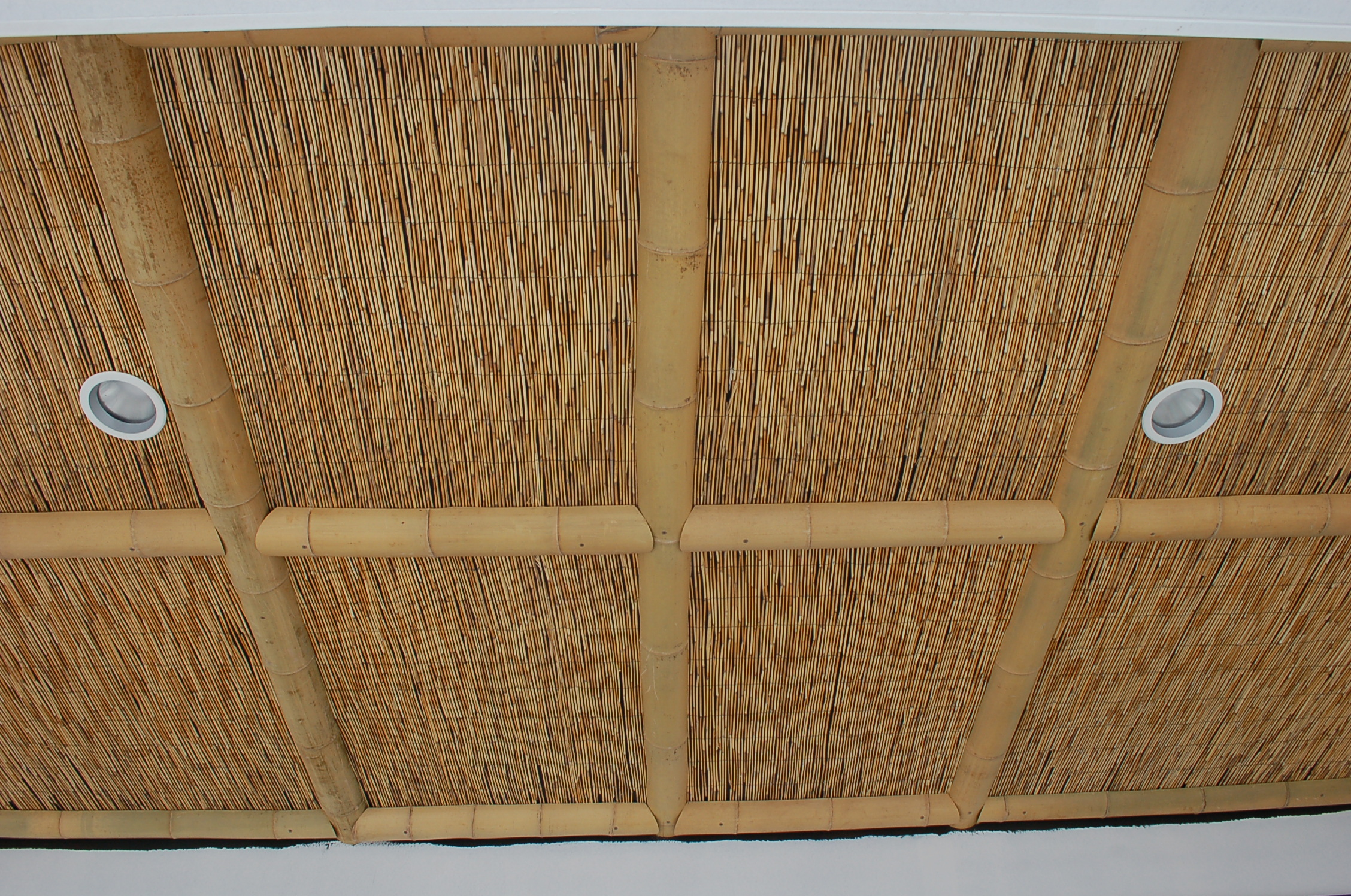 Reed Matting and 4in. Half Round Bamboo