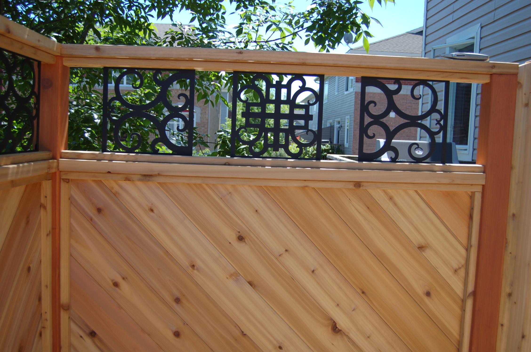 T & G Cedar and Wrought Iron Art
