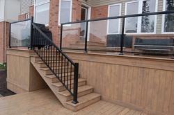 2 Level Deck & Storage Glass Rail