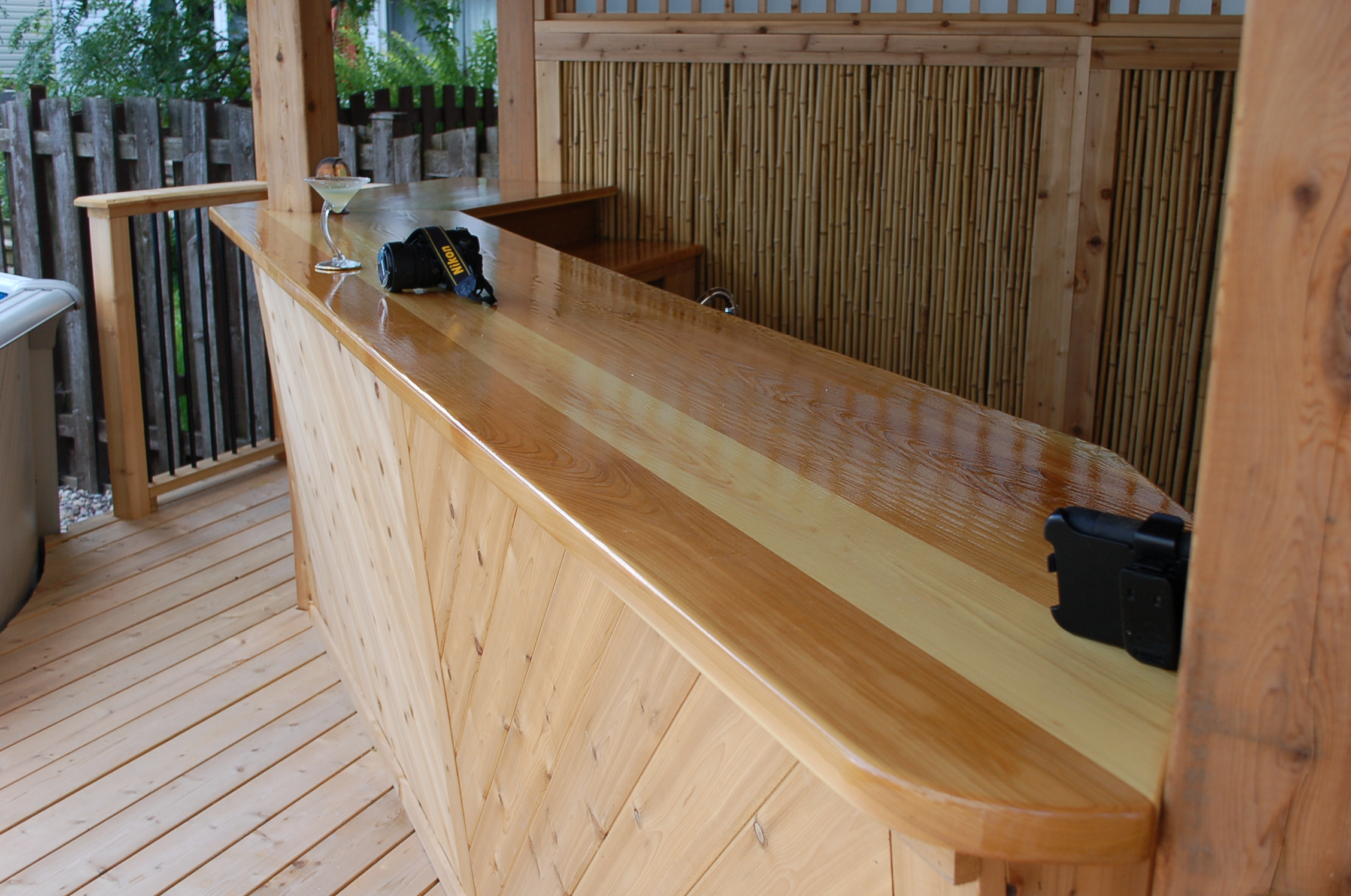 Custom Cedar Bar Tiki Hut Pool Side