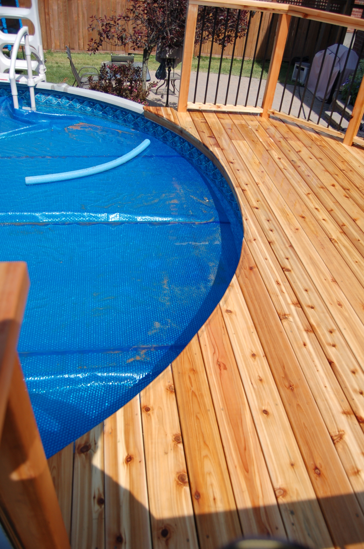 Above Ground Pool Cedar Deck