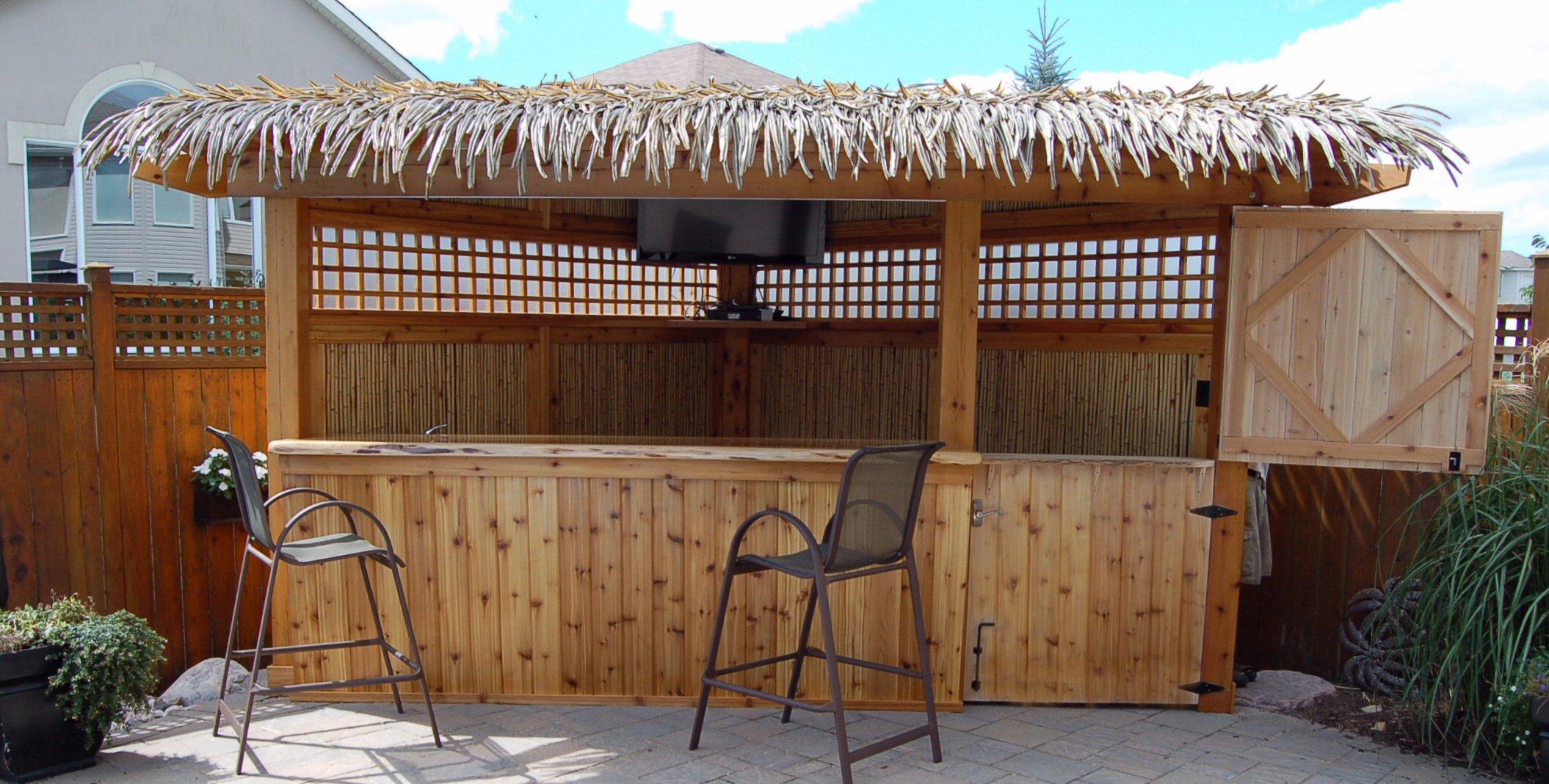 Corner Tiki Bar Pool Side