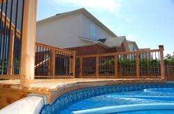 Pool Deck, Deckorator Rail & Gate