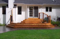 Brick Patio Cedar Deck Steps