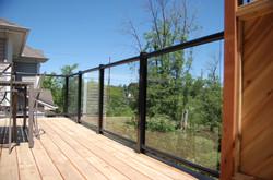 Cedar Deck Glass Rail