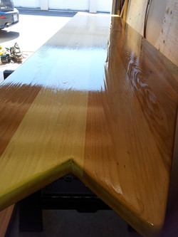 Custom Cedar Bar with EPIFANES Clear High Gloss Varnish 3