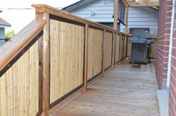 Bamboo Railing on Deck 3.