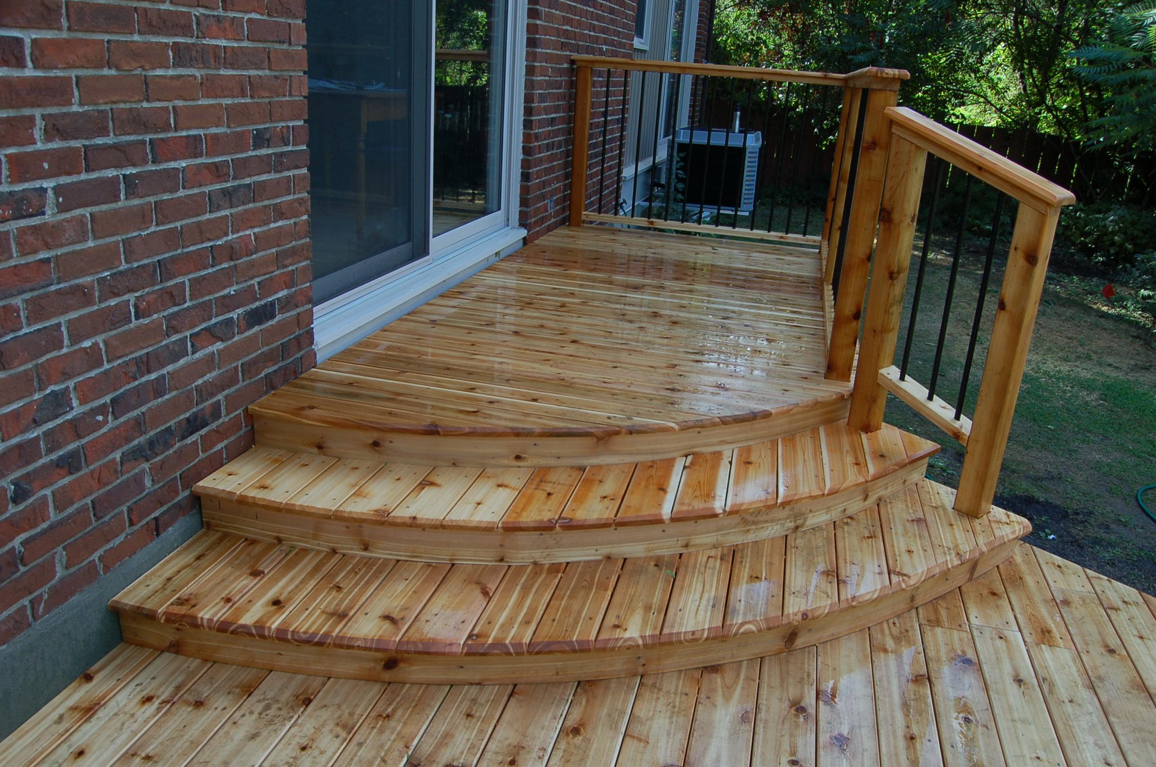 Curved Cedar Deck