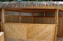 Tiki Bar Bamboo Walls and Lexan Windows.