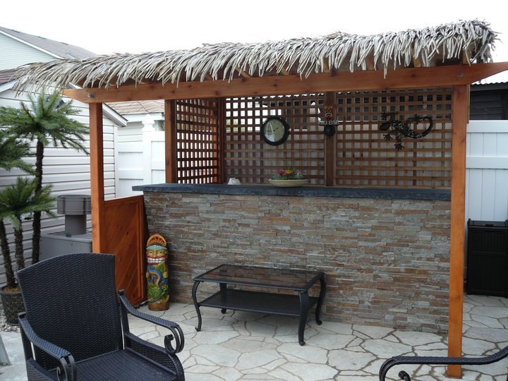 Tiki Bar- Natural Stone Bar