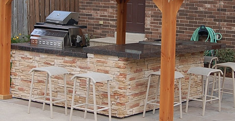 Tiki Bar Granite Bar Top And BBQ 4