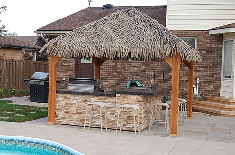 Tiki Bar Granite Bar Top And BBQ