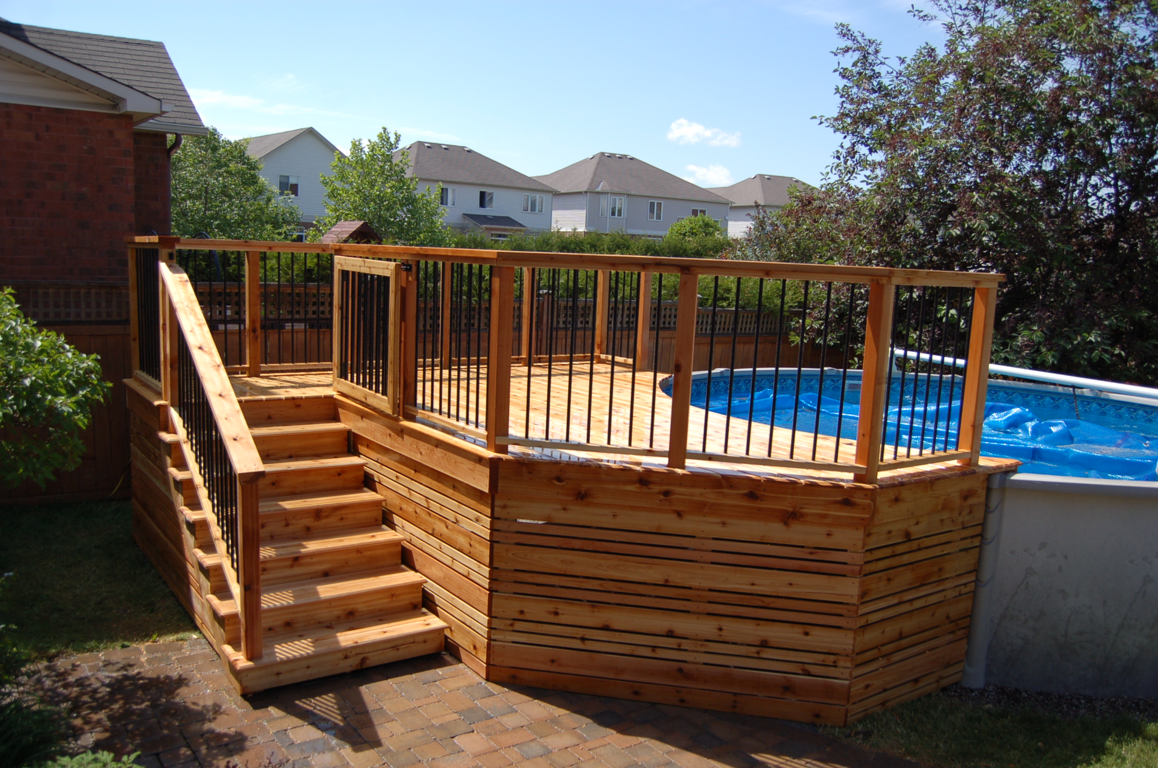 Pool Deck, Deckorator Rail & Gate
