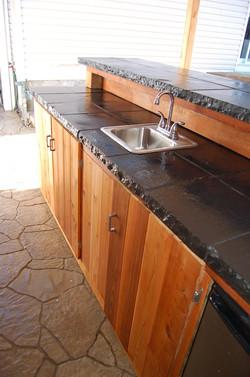 Tiki Bar-Black Natural Stone Bar Top