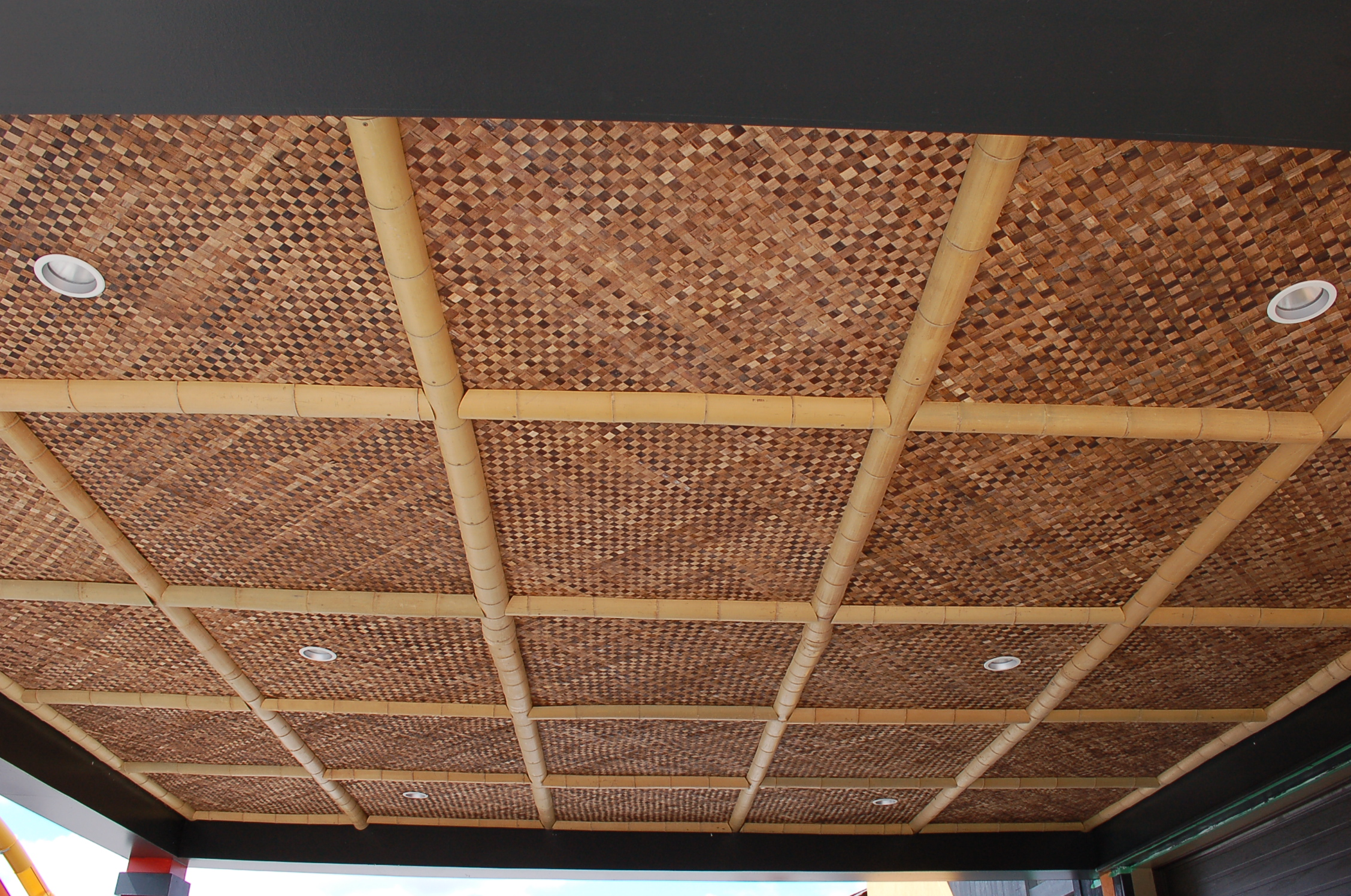 Bac Bac Matting and 4in. Half Round Bamboo