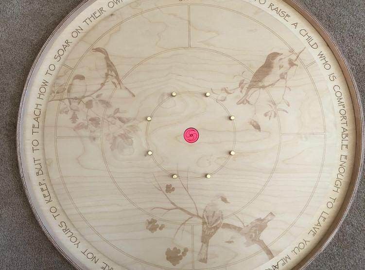 Laser Engraved Crokinole Board