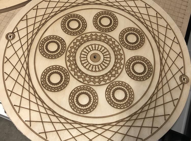 Intricate laser engraving