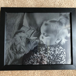 Baby photo engraved