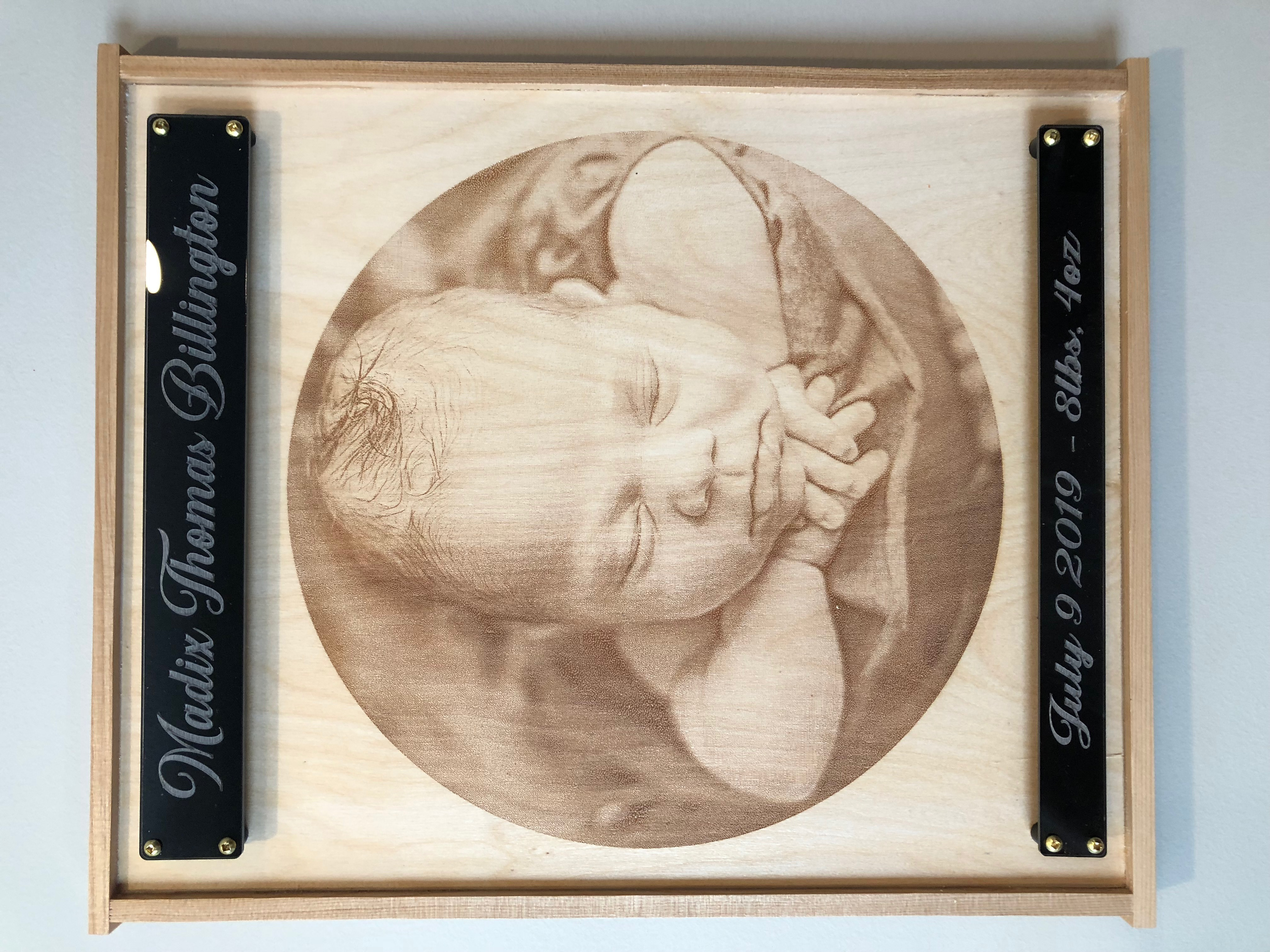 Engraved Newborn Photos Calgary