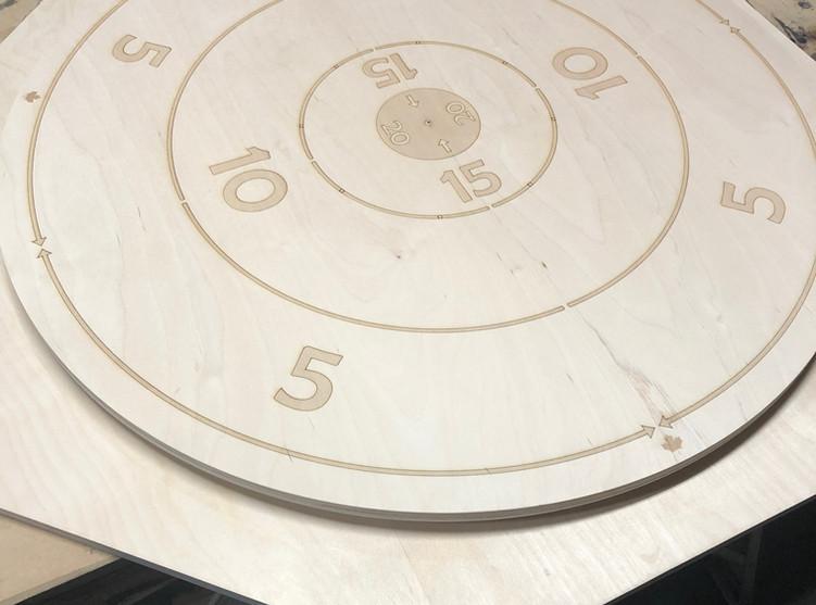 Big number engraved board