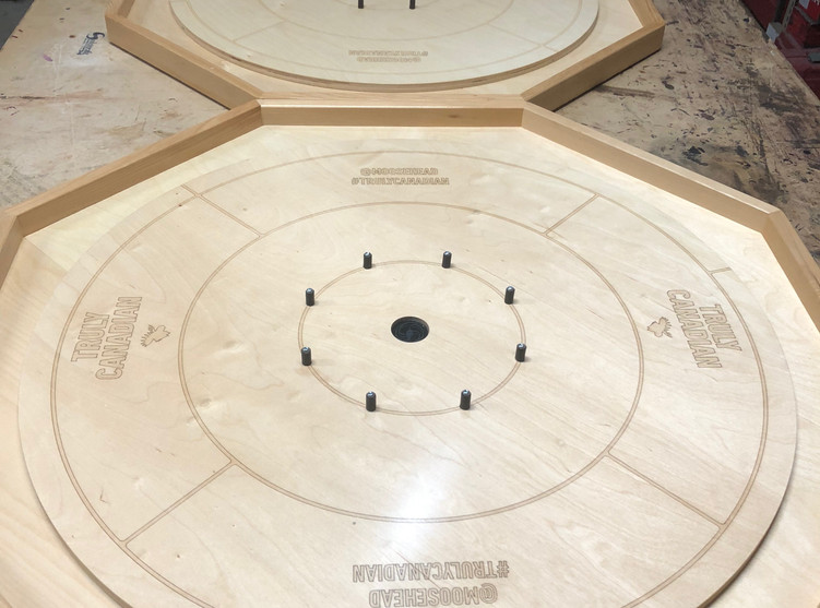 Moosehead Laser Crokinole Board