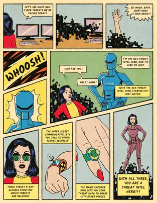 Threat Intel Hero Comic