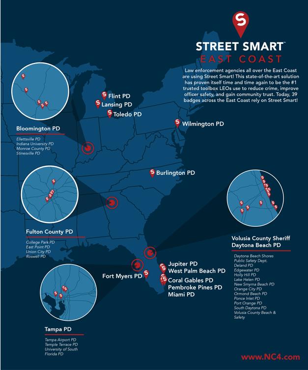 East Coast Heat Map