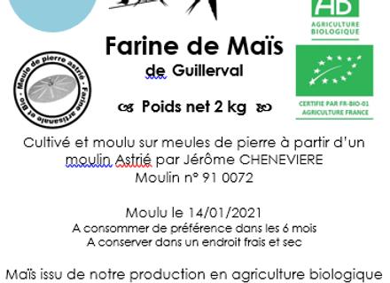 Farine de Maïs Bio 2 kg