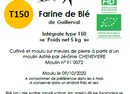 Farine de blé tendre T150 Bio 5 kg