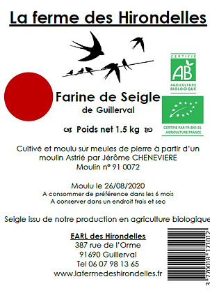 Farine de Seigle Bio