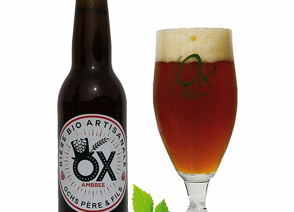 Bière Ambrée bio de la brasserie Ox de Marcoussis