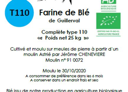 Farine de blé tendre T150 Bio 25 kg