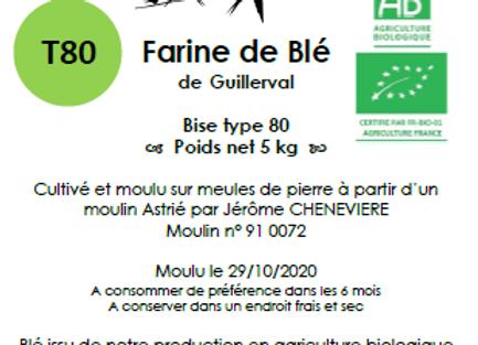 Farine de blé tendre T80 5 kg
