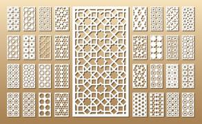 dekorativní vzory pro laser