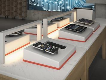 artificial stone concept design for mobile phone retailer