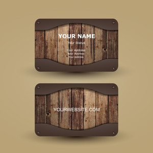 demonstration of luxury creation of business cards from wood and plexiglass