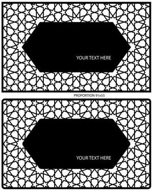 mønster for å lage et visittkort av plexiglass eller kryssfiner