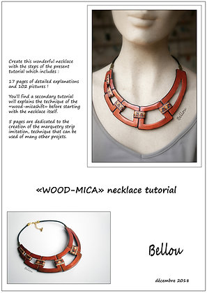 WOOD-MICA necklace tutorial BELLOU