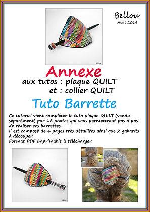 """Tutoriel ANNEXE """" Barrettes"""" Bellou"""