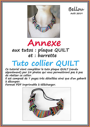 "Tutoriel ANNEXE "" Collier QUILT"" Bellou"