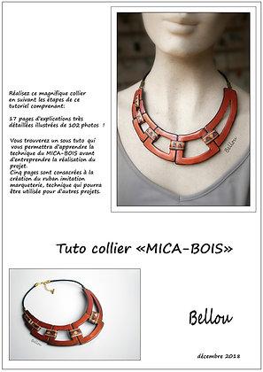"Collier "" MICA-BOIS"""