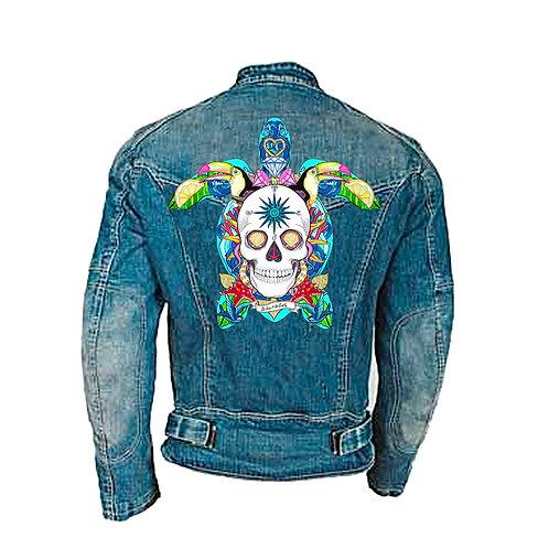 Parche textil Tortuga   el dios de los tres TAMAÑO XL
